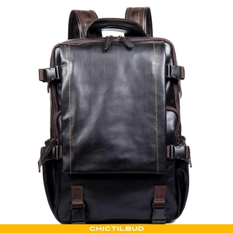 Rygsæk Herre Computertaske Læder Rejsetaske Mænd