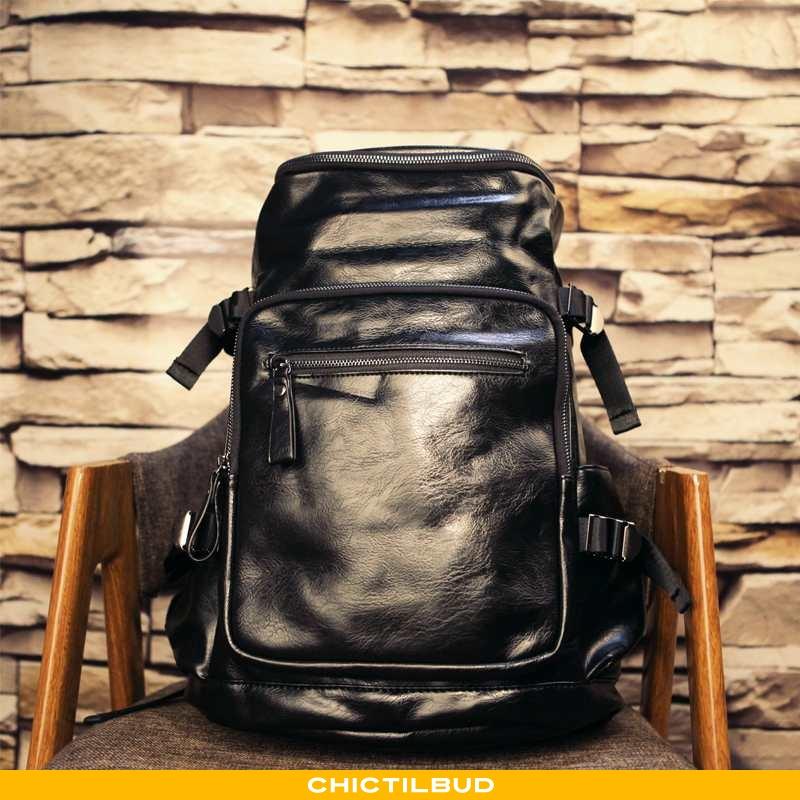 Rygsæk Herre Computertaske Læder Rejsetaske Stor