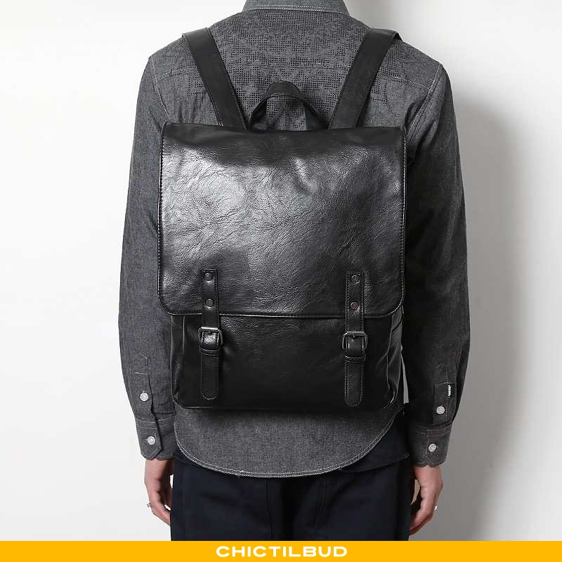 Rygsæk Herre Computertaske Læder Trend Mænd