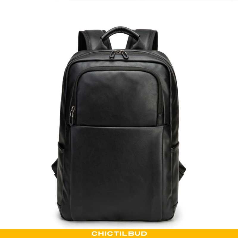 Rygsæk Herre Computertaske Læder Trend Ny