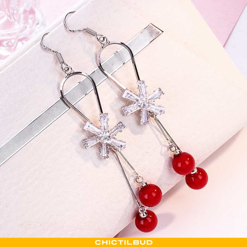 Sølv Smykker Dame Kvaster Rød