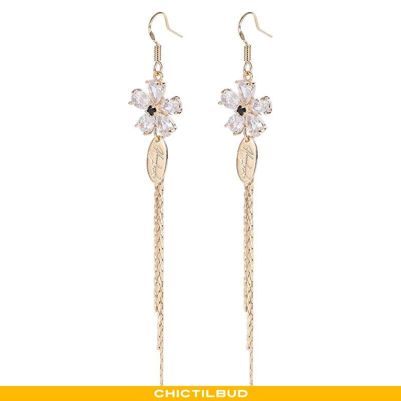 Sølv Smykker Dame Lang Elegante Guld