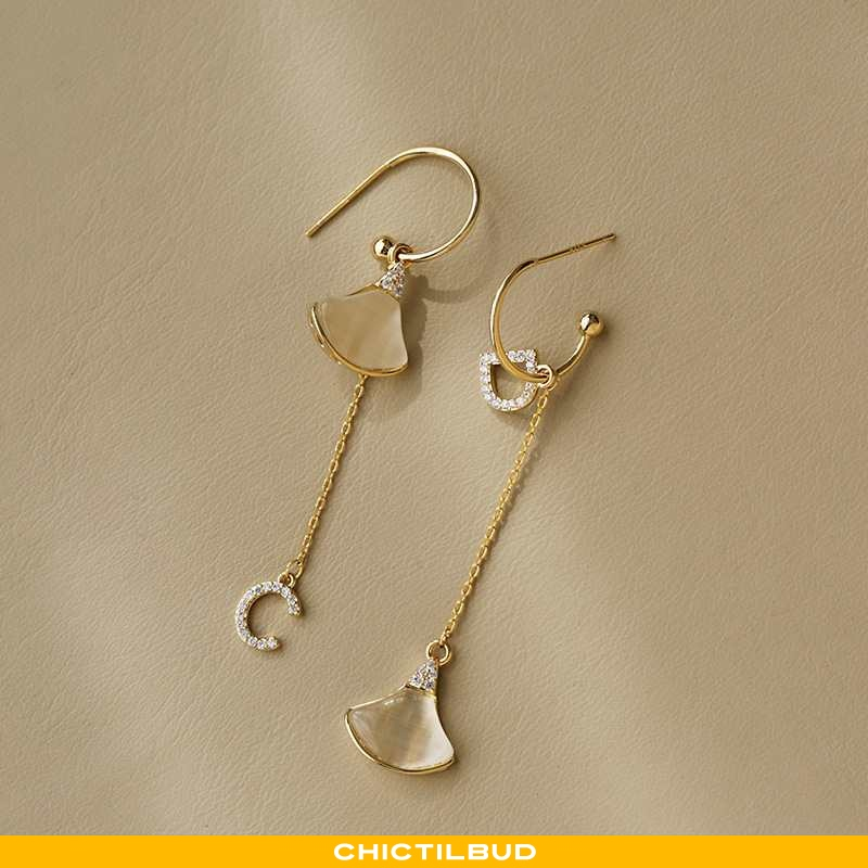 Sølv Smykker Dame Lang Stor Guld