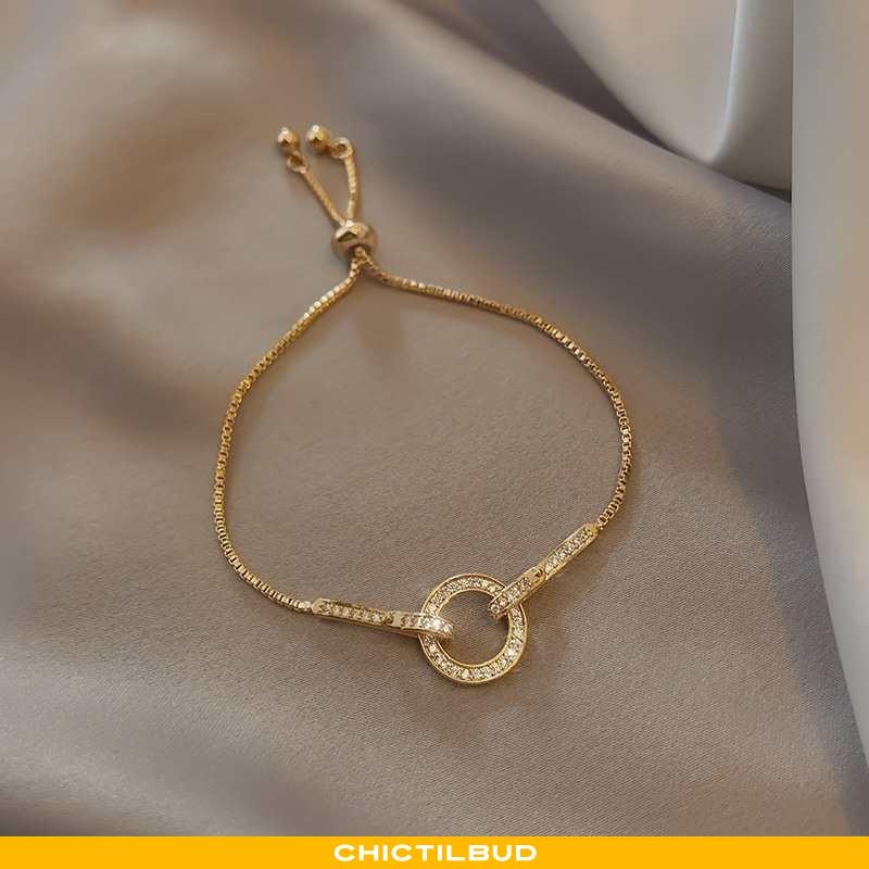 Sølv Smykker Dame Lang Tilbehør Guld
