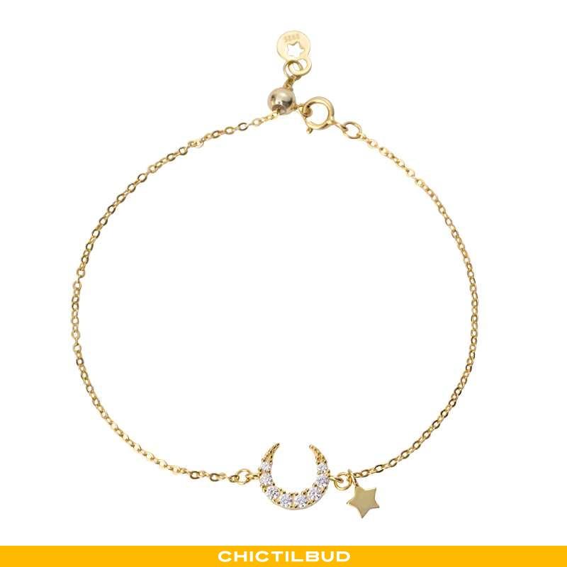 Sølv Smykker Dame Simple Guld