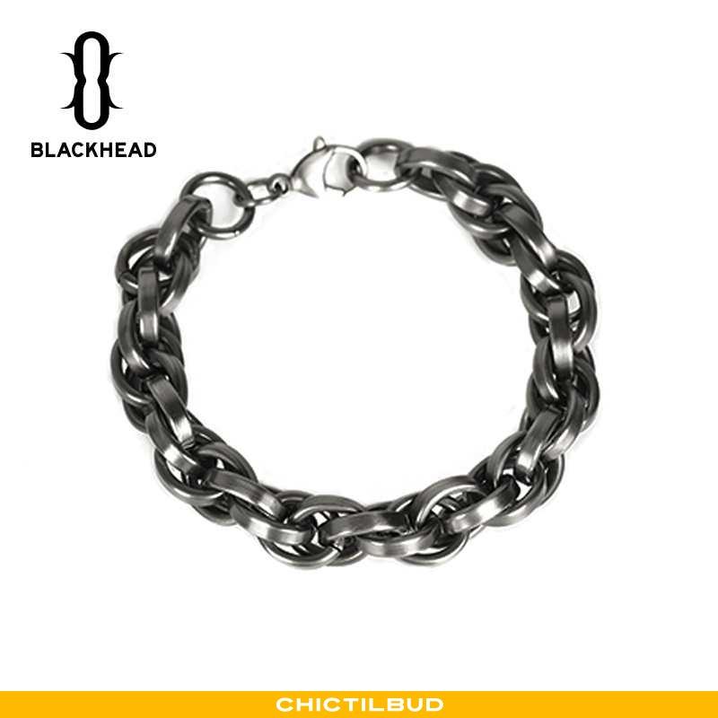 Sølv Smykker Herre Trend Blomster Sort