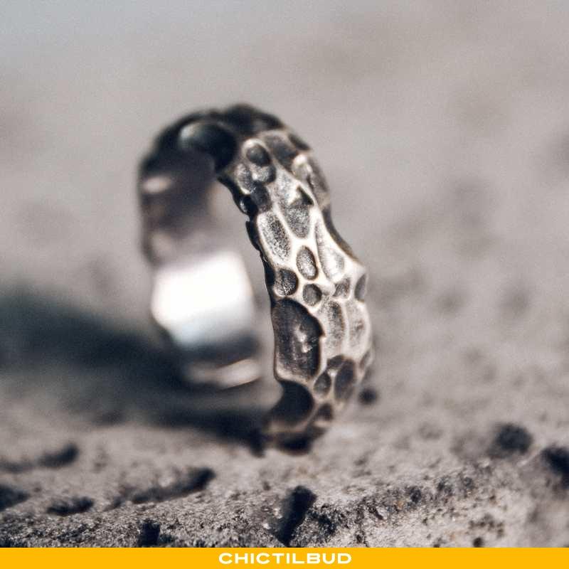 Sølv Smykker Herre Vintage Justerbar Sort