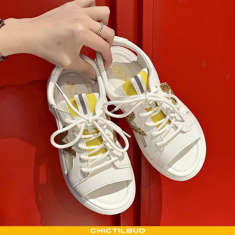Sandaler Dame Bindebånd Ny Gul