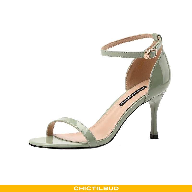 Sandaler Dame Cheongsam Læder Højhælede Kvinder