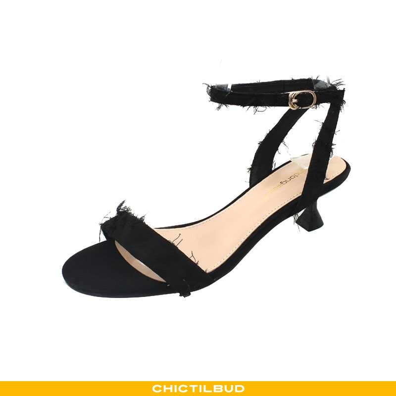 Sandaler Dame Høje Hæle Sommer Kvinder