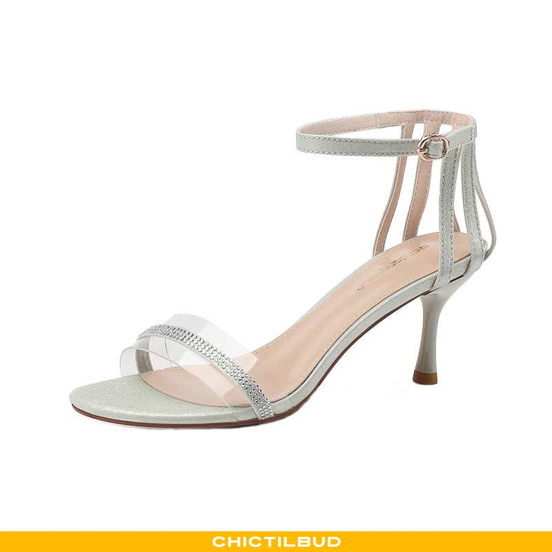 Sandaler Dame Højhælede Pigerne Sølv