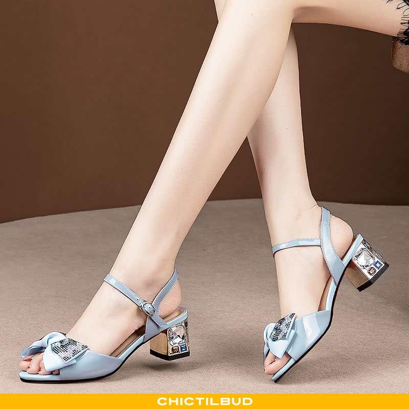 Sandaler Dame Læder Mode Alt Matcher