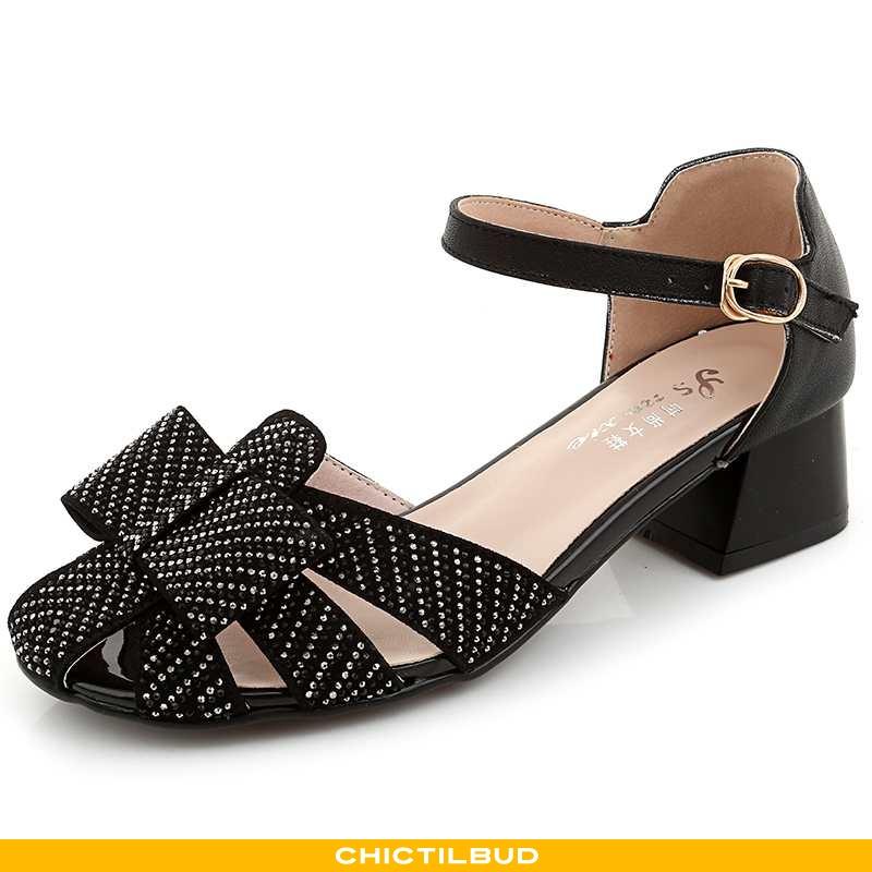 Sandaler Dame Mode Midten Sort
