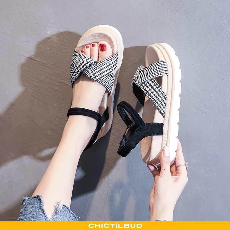 Sandaler Dame Platform Sko Sommer Super