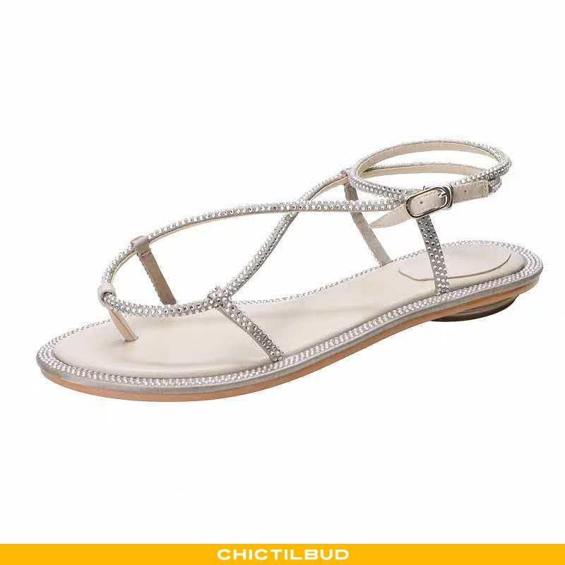 Sandaler Dame Sølv Ny