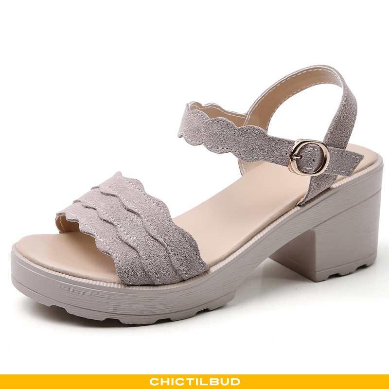 Sandaler Dame Sommer Grå