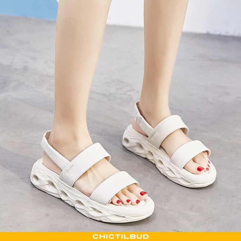 Sandaler Dame Sports Bløde Såler Hvid