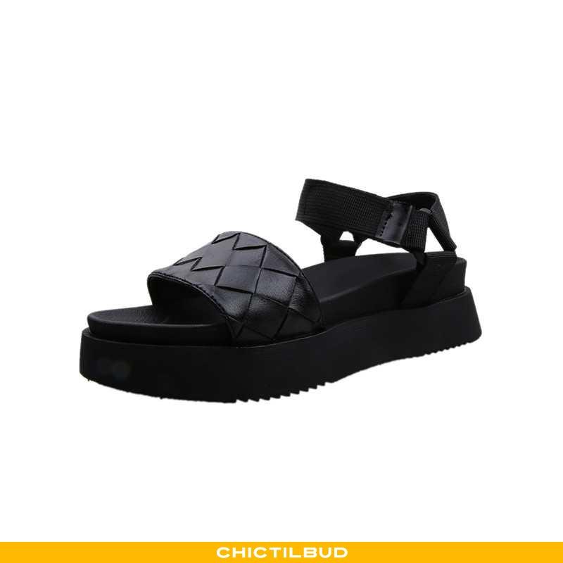 Sandaler Dame Tykke Ny Sort