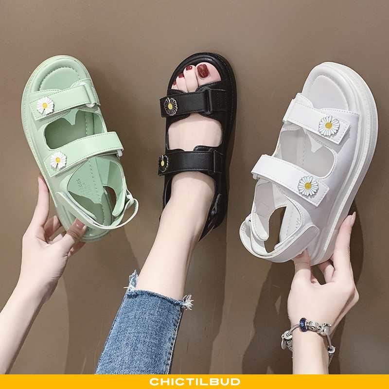 Sandaler Dame Tykke Platform Grøn