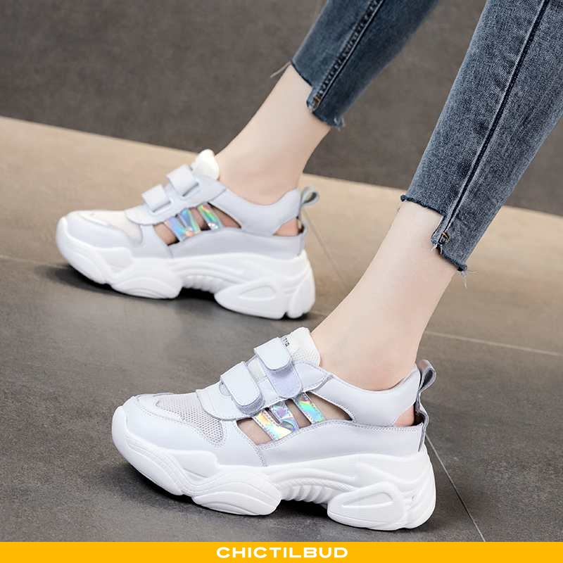 Sandaler Dame Tykke Super Hvid