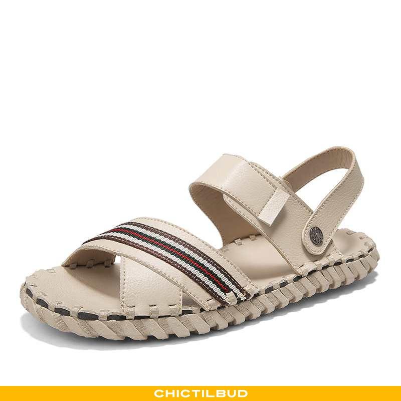 Sandaler Herre Casual Ny Beige