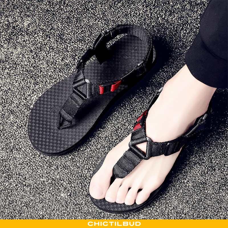 Sandaler Herre Hjemmesko Casual Sort