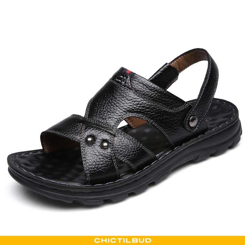 Sandaler Herre Hjemmesko Læder Sommer 2020