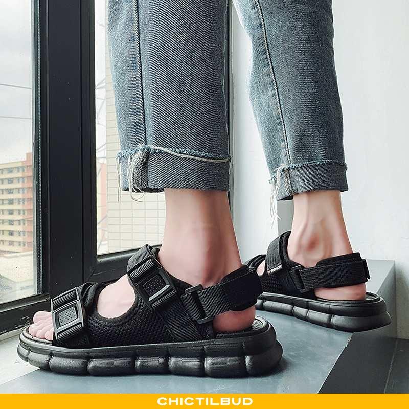 Sandaler Herre Hjemmesko Strand Sort