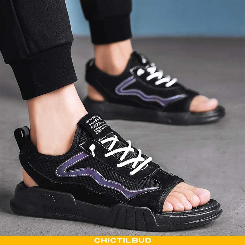 Sandaler Herre Læder Mode Mænd