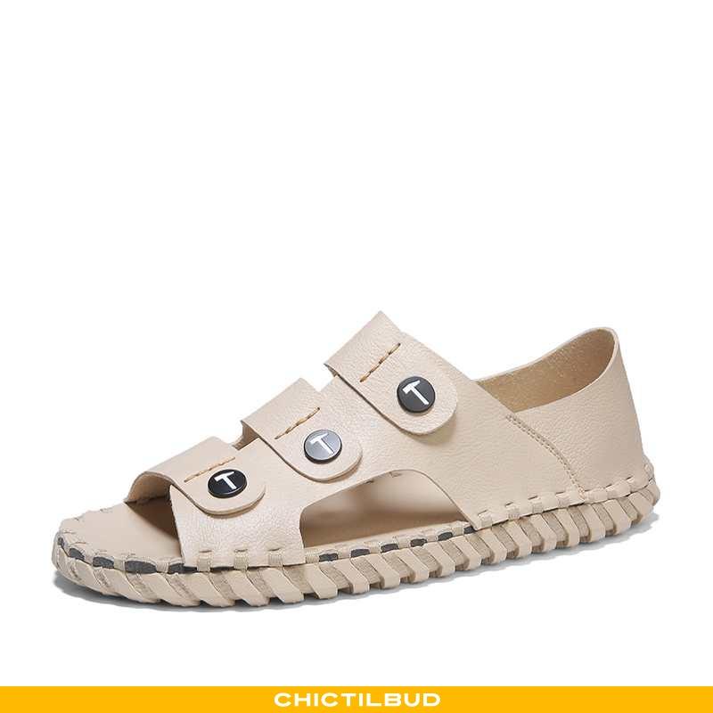 Sandaler Herre Læder Strand Mænd