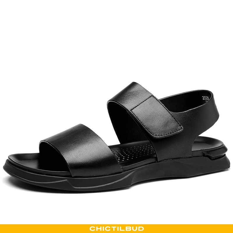 Sandaler Herre Læder Strand Sort