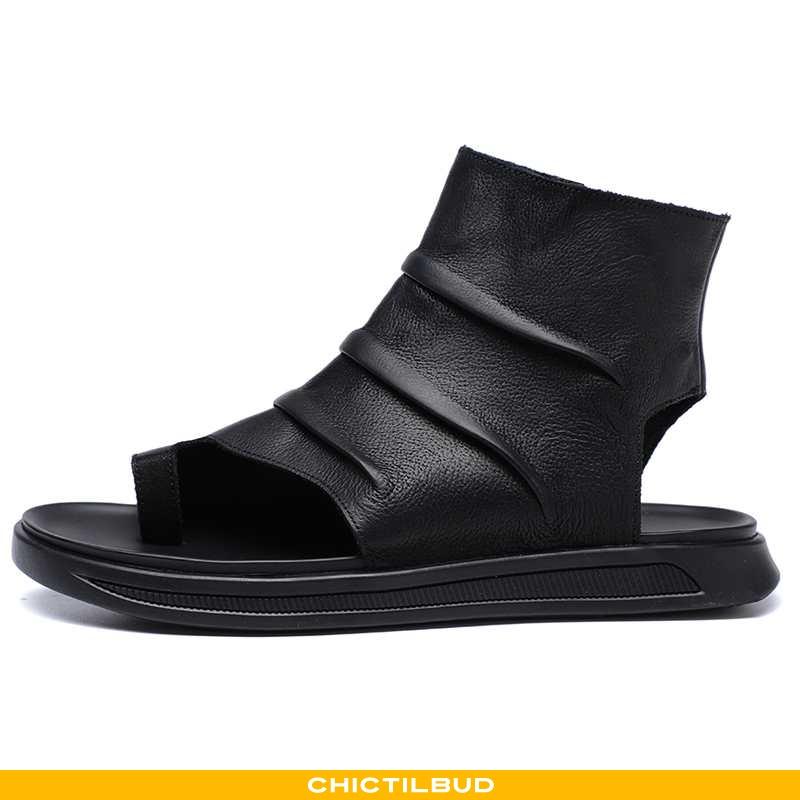 Sandaler Herre Læder Trend Rom