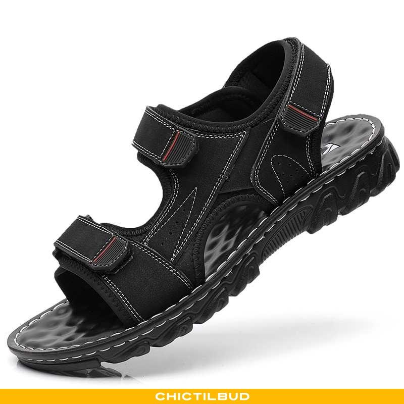 Sandaler Herre Trend Bløde Såler Sort