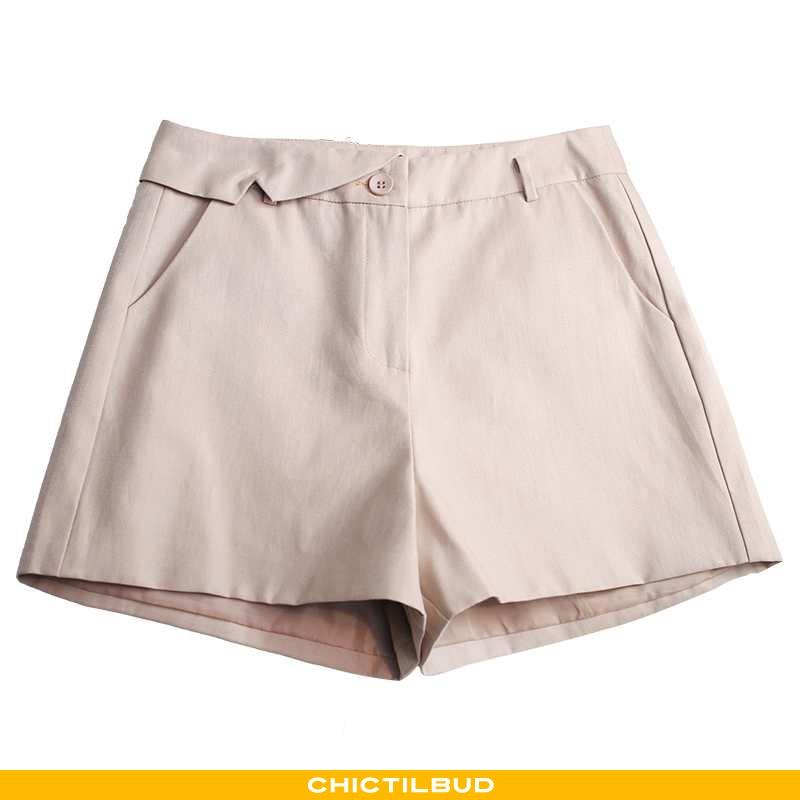 Shorts Dame Mode Hot Bukser Khaki