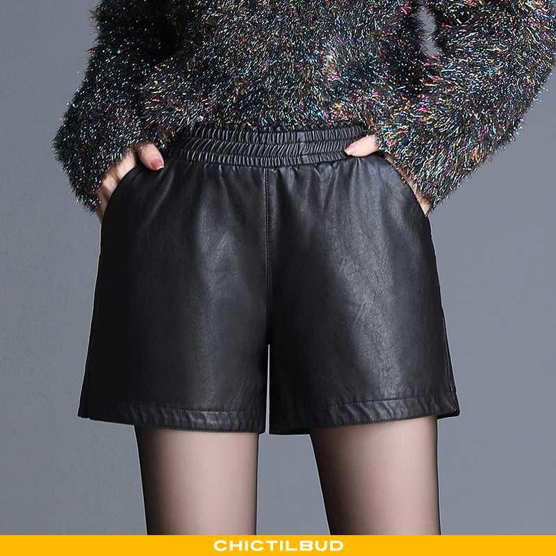 Shorts Dame Trend Midt Talje Sort