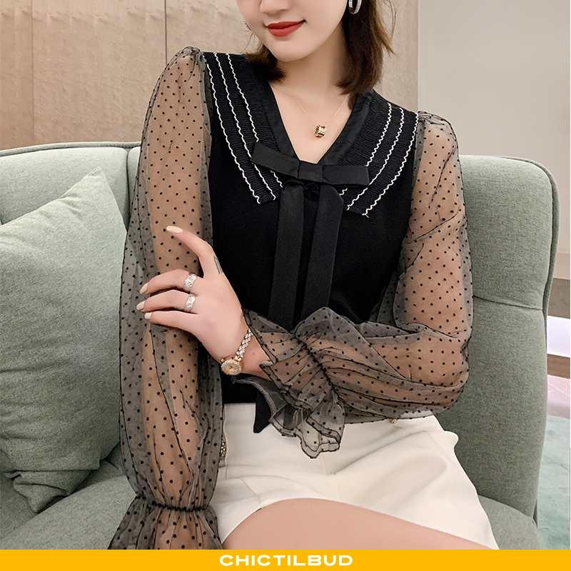 Skjorte Dame Blonder Elegante Jakke