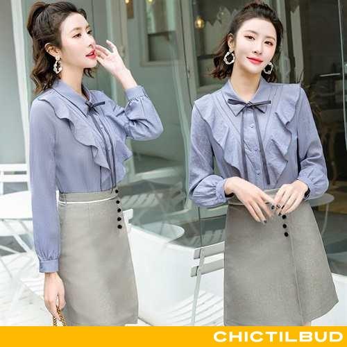 Skjorte Dame Bluser Skjorter Elegante 2020