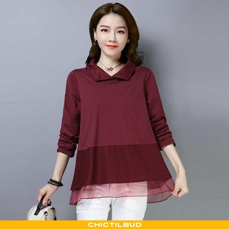 Skjorte Dame Trend 2021 Bordeaux