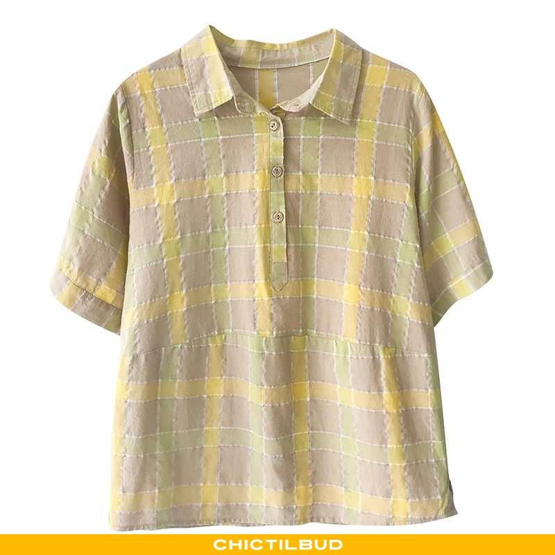 Skjorter Dame Bluser Skjorter Bomuld Sommer Ny
