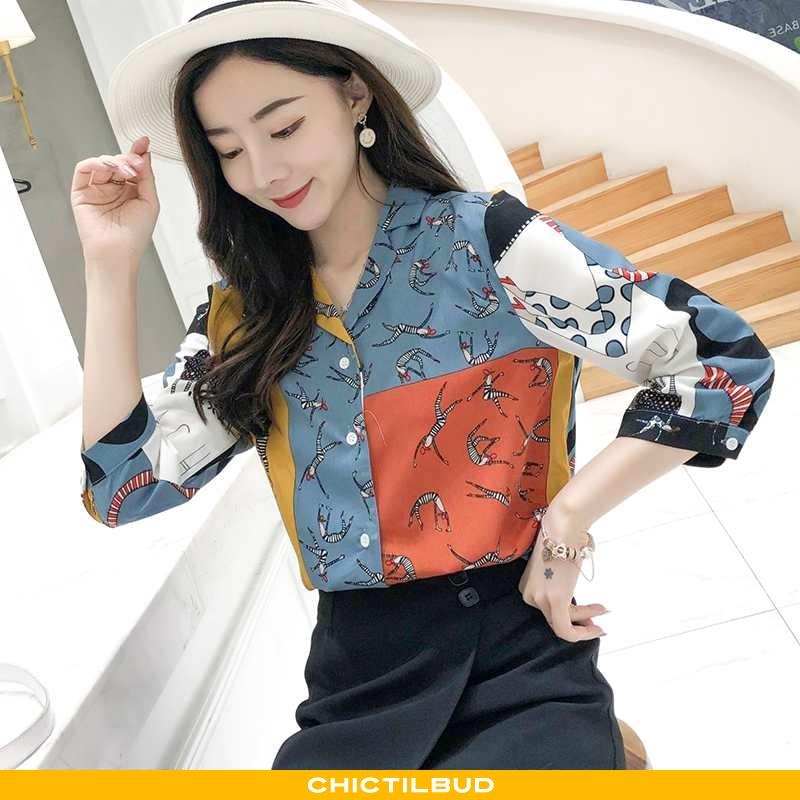 Skjorter Dame Bluser Skjorter Chiffon Vintage 2020