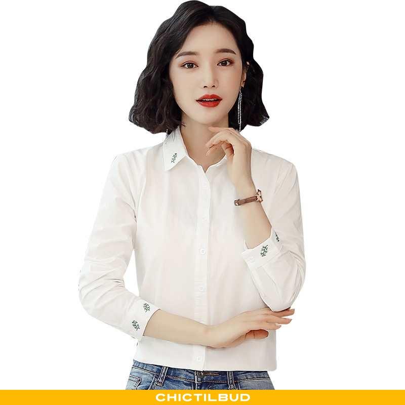 Skjorter Dame Bluser Skjorter Elegante Hvid