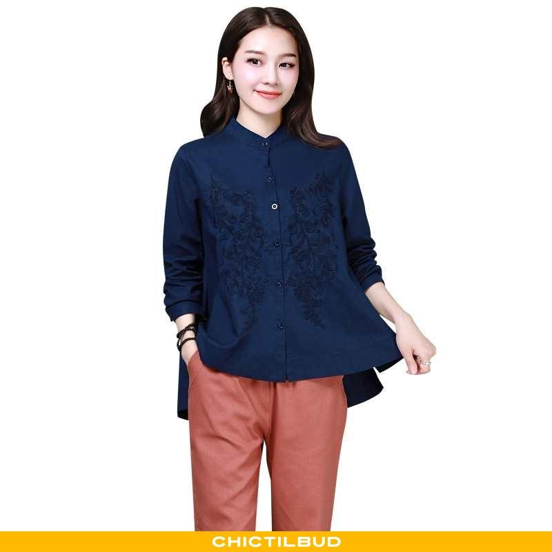 Skjorter Dame Bluser Skjorter Forårs Personlighed