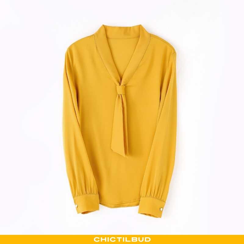 Skjorter Dame Bluser Skjorter Silke Bindebånd 2020