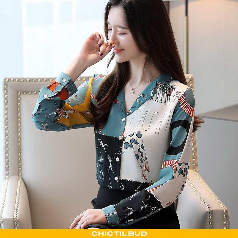 Skjorter Dame Bluser Skjorter Silke Designer Jakke