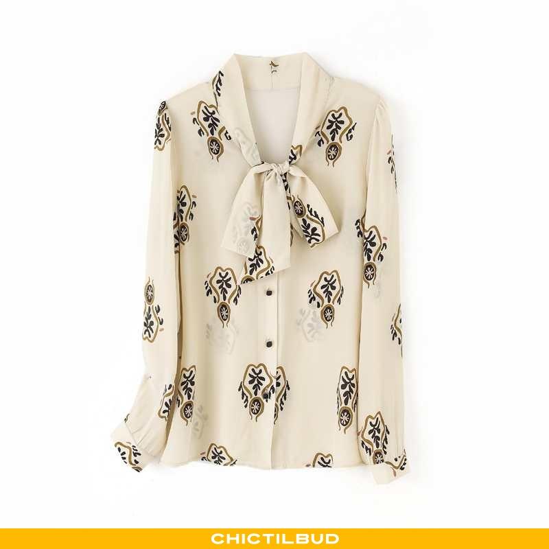 Skjorter Dame Bluser Skjorter Silke Forårs 2020