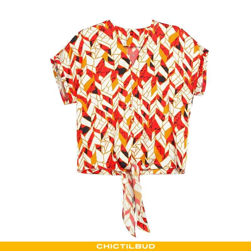 Skjorter Dame Bluser Skjorter Silke Forårs Rød