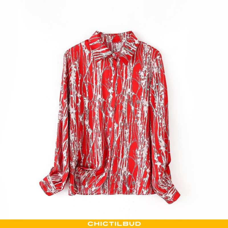 Skjorter Dame Bluser Skjorter Silke Kvinder