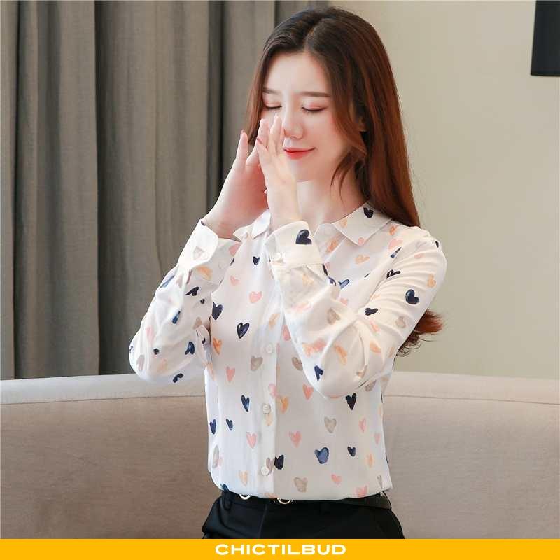 Skjorter Dame Skjorte Chiffon Designer Lille Sektion