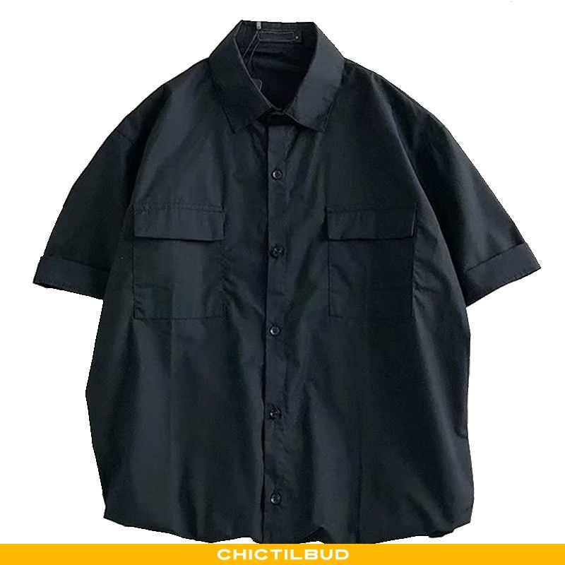 Skjorter Herre Bluser Skjorter Bomuld Casual Kunst