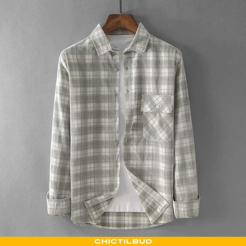 Skjorter Herre Bluser Skjorter Bomuld Trend Ny